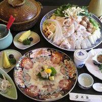 魚好きコース コース内容: 先付・お造り・魚フライ・鍋・雑炊・デザート